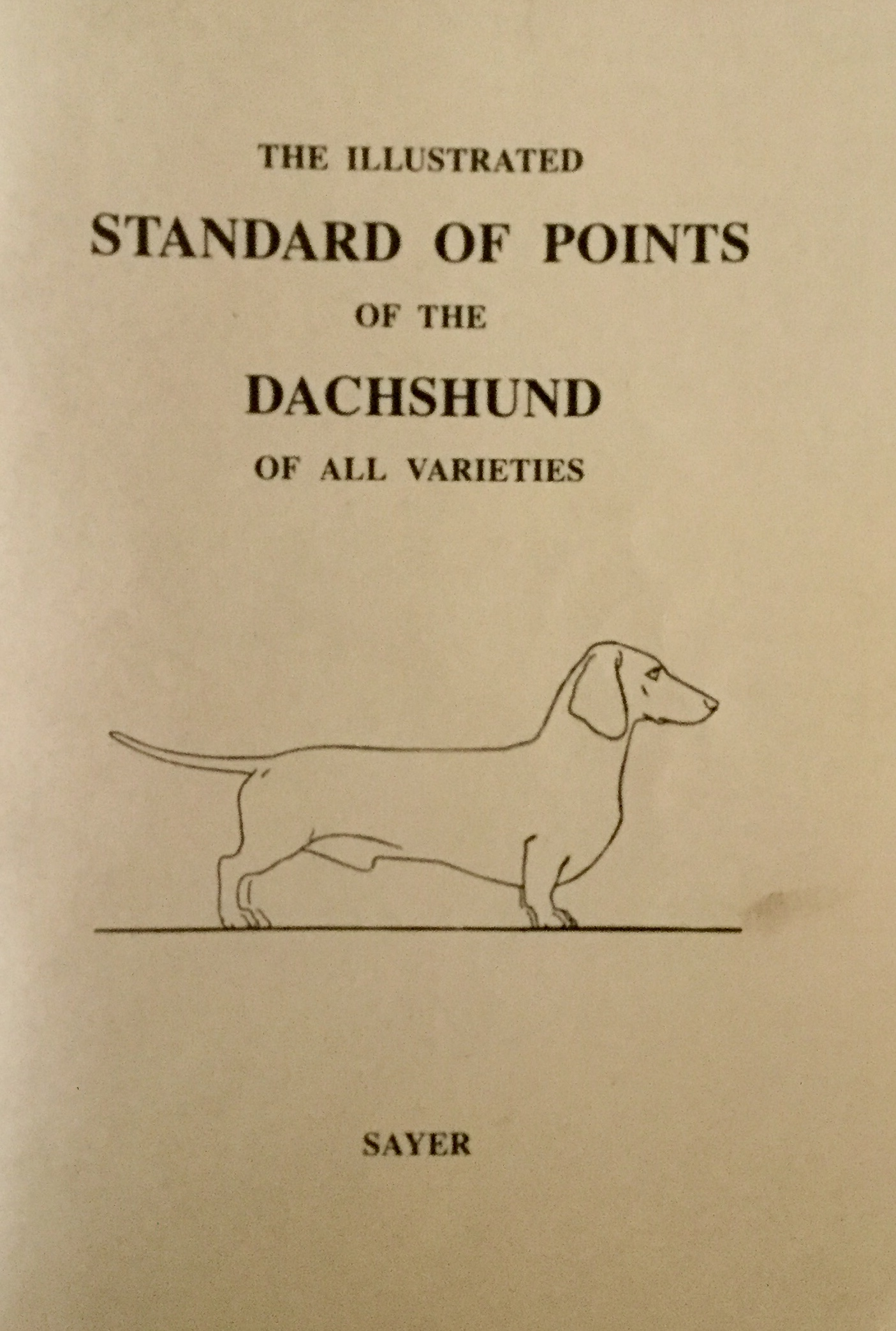 Conformation The Dachshund Fit For Function