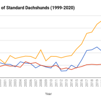Dachshund registrations 1999-2020
